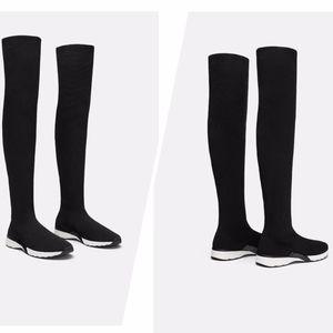 👢NWT ZARA Black Extra Long Sports Socks Sneakers